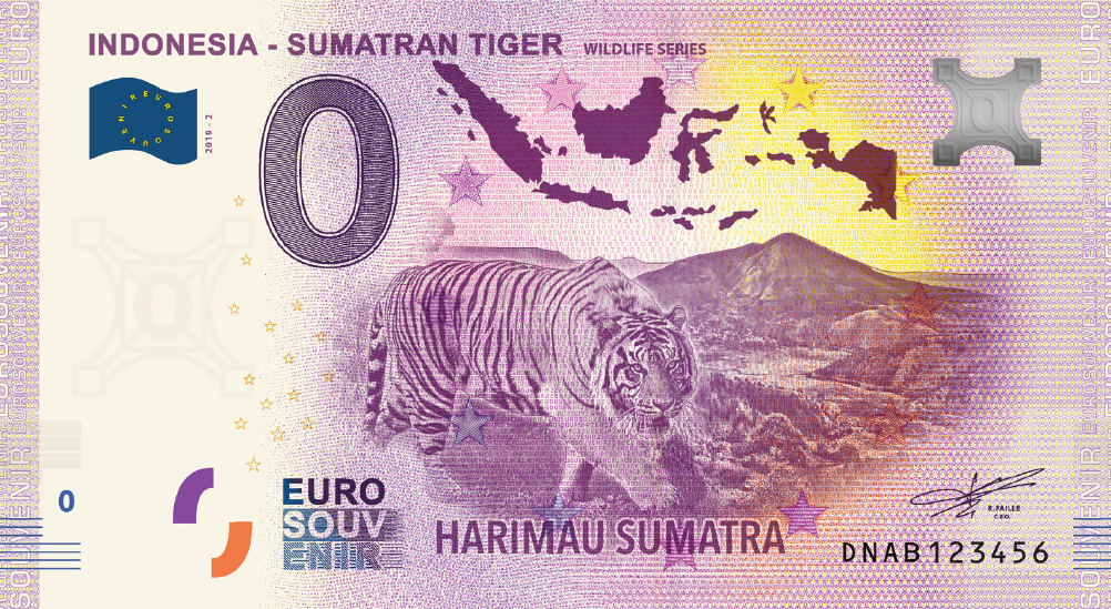 0 Euro Indonesië 2019 Sumatran Tiger