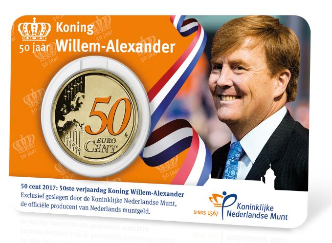 50ste Verjaardag Koning Willem Alexander 2017 Coincard De