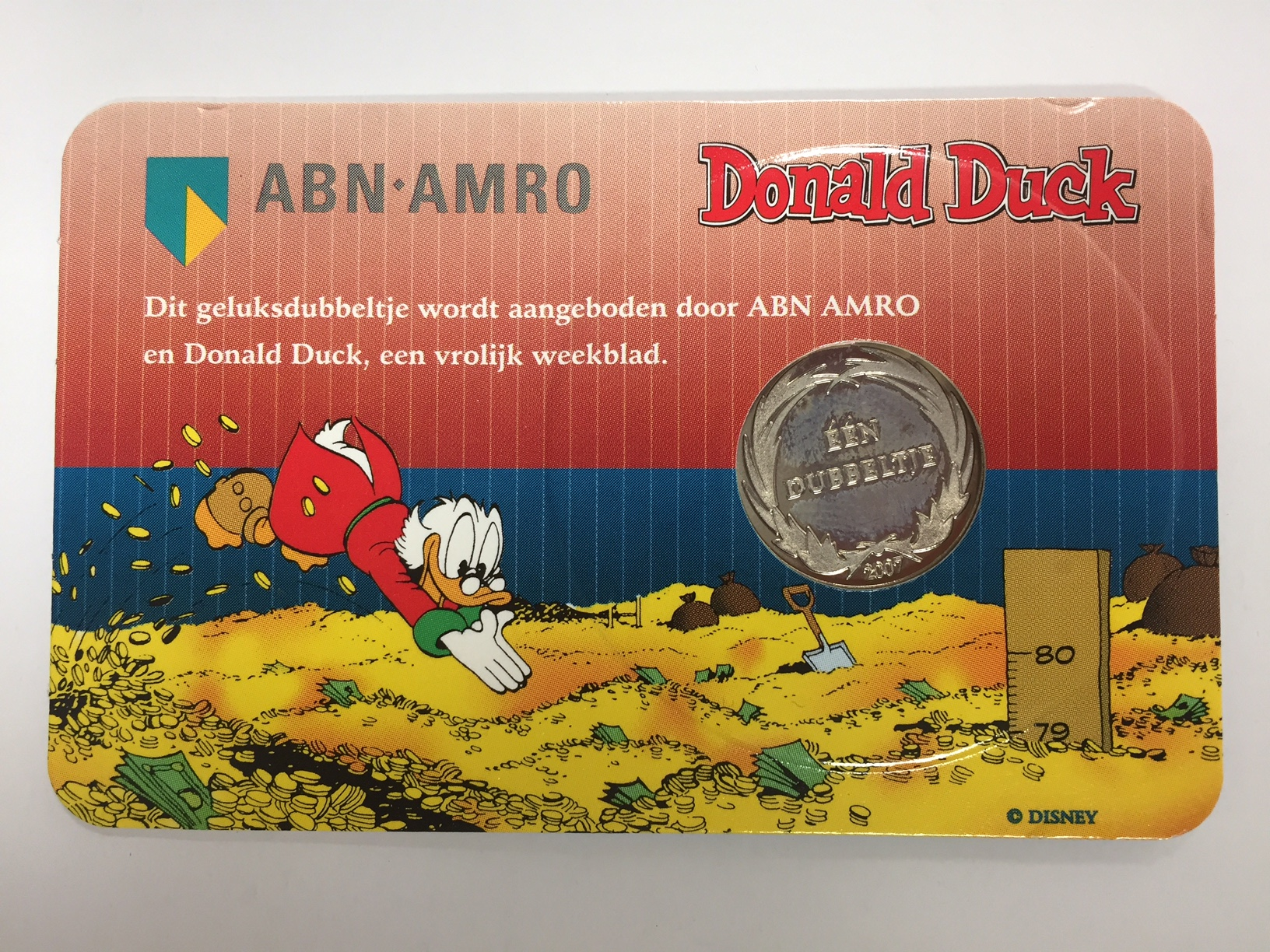 60 Jaar Dagobert Duck Geluksdubbeltje 2007 Coincard De