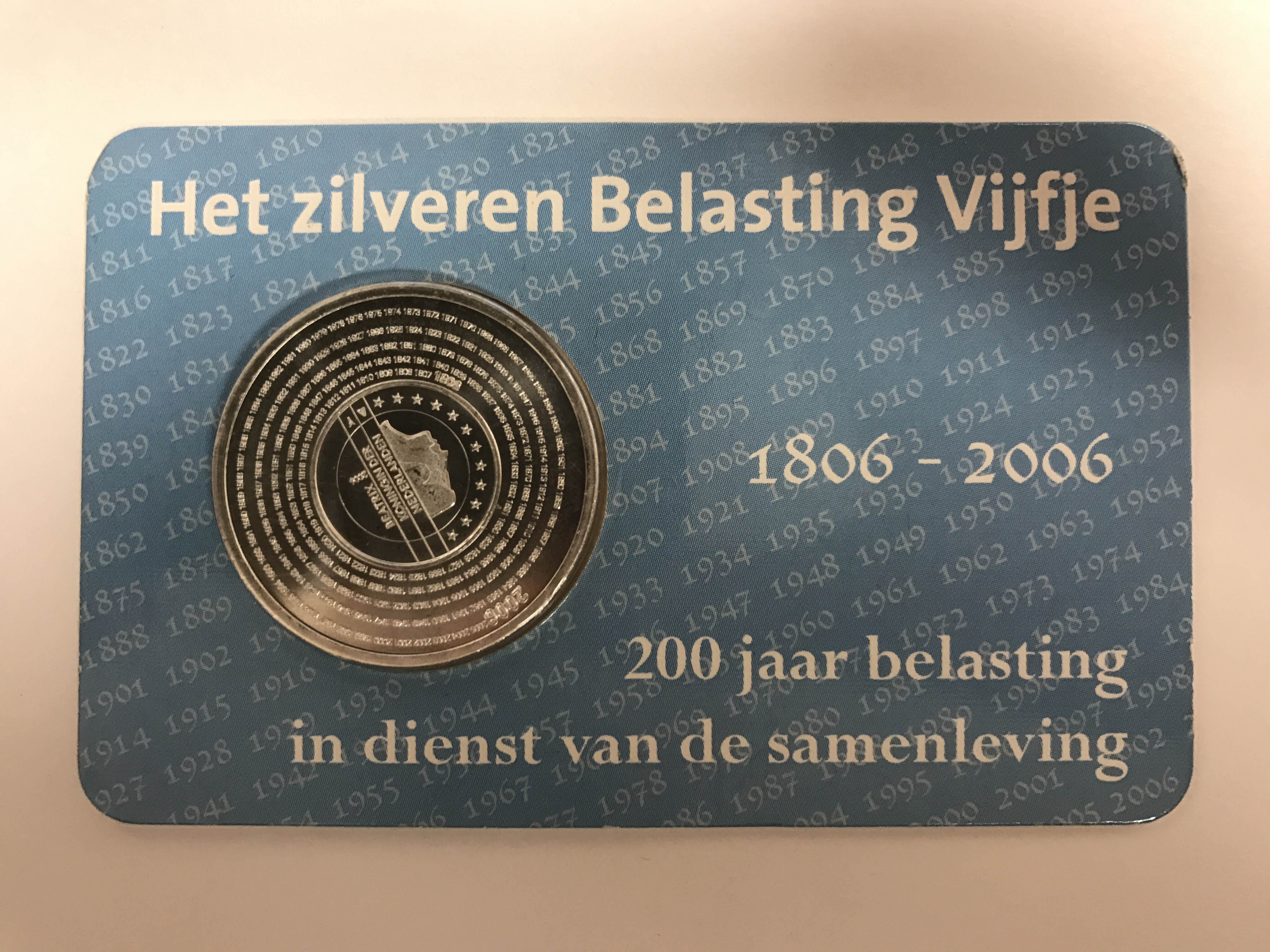 Belasting Vijfje 2006 coincard HNM